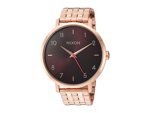 Nixon The Arrow X The Mahogany Rose Collection - All Rose Gold/Brown