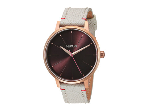 Nixon The Kensington Leather X The Mahogany Rose Collection - Rose Gold/Brown