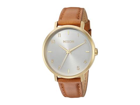 Nixon Arrow Leather - Gold/White/Saddle