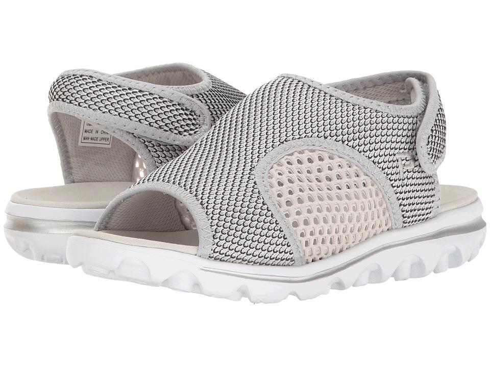 Propet - TravelActiv SS (Silver/Black) Women's Sandals