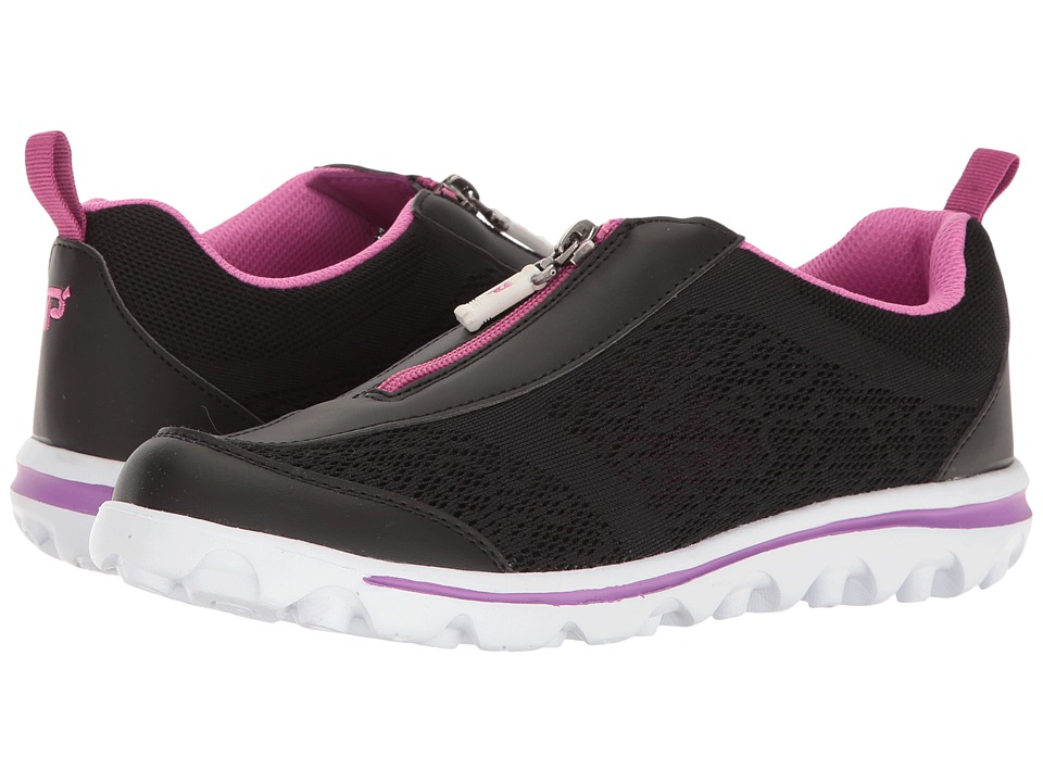 Propet TravelActiv Zip (Black/Berry) Women's Shoes