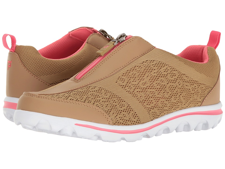 Propet TravelActiv Zip (Honey/Coral) Women's Shoes