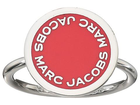 Marc Jacobs Logo Disc Enamel Logo Disc Ring - Pink