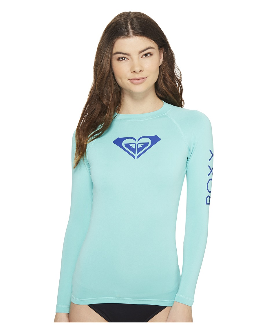 Roxy Whole Hearted Long Sleeve Rashguard (Pool Blue) Women