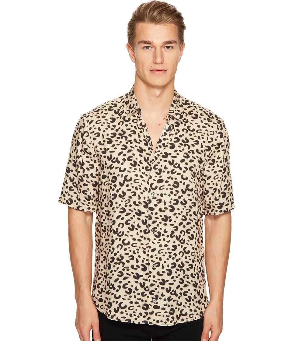 McQ - Short Sleeve Leopard Sheehan Shirt