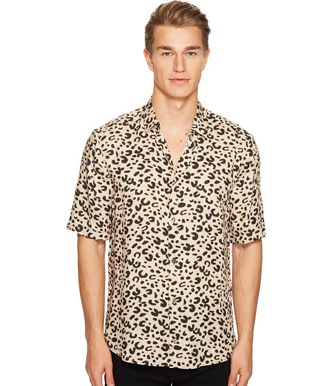 McQ Short Sleeve Leopard Sheehan Shirt