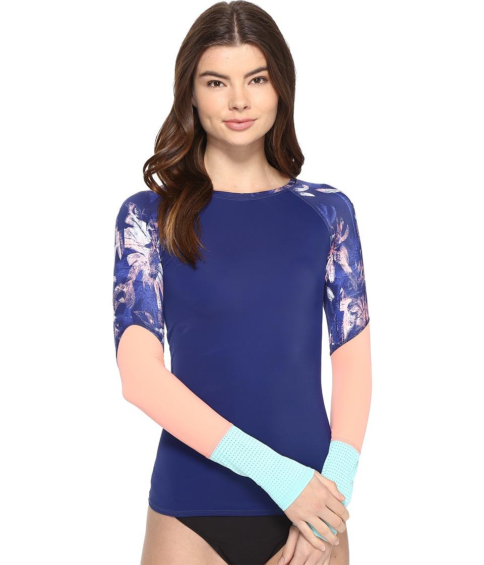 Roxy Keep It ROXY Long Sleeve Rashguard (Blue Depths) Women