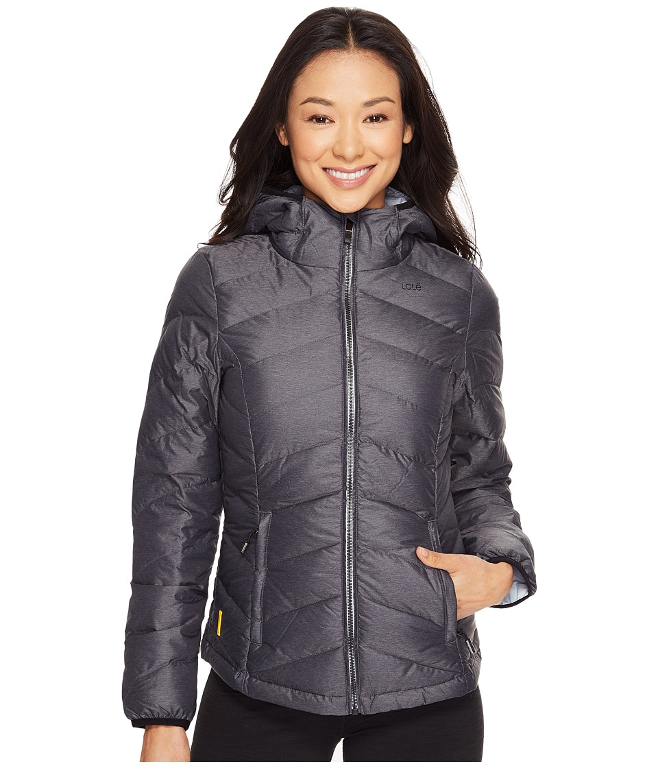 Lole Emeline Jacket (Black Heather 1) Women's Coat