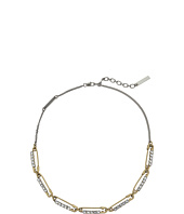 Marc Jacobs - Safety Pin Strass Safety Pin Link Necklace