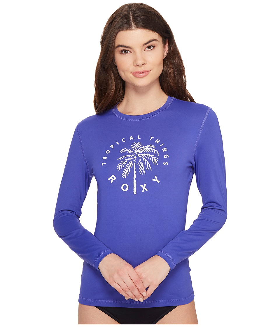 Roxy Palms Away Long Sleeve Rashguard (Royal Blue) Women