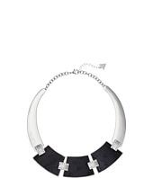 GUESS - 3 Plate Hinged Collar with Faux Ostrich Necklace