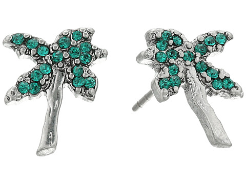 Marc Jacobs Charms Tropical Strass Palm Tree Studs Earrings - Green Multi