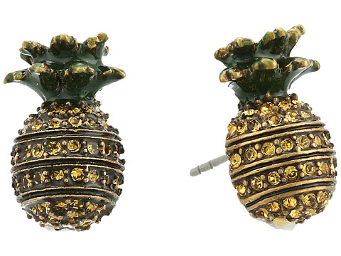 Marc Jacobs Charms Tropical Pineapple Studs Earrings - Yellow Multi