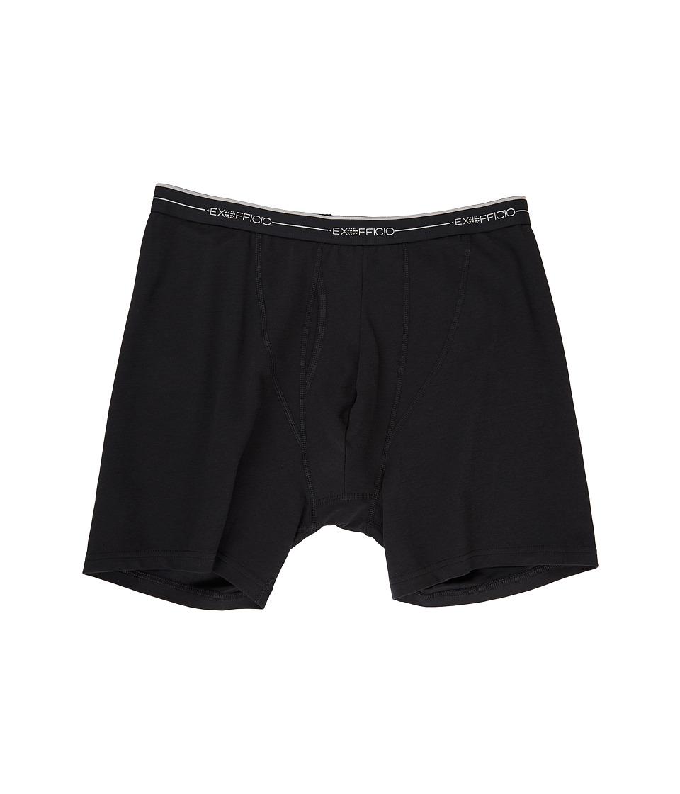 ExOfficio Sol Cool Boxer Brief (Black) Men's Underwear