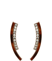 GUESS - Bent Double Stick with Faux Tortoise and Crystal Accents Earrings