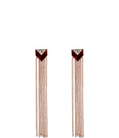 GUESS - Fringe Linear Drop Earrings with Faux Tortoise Accents