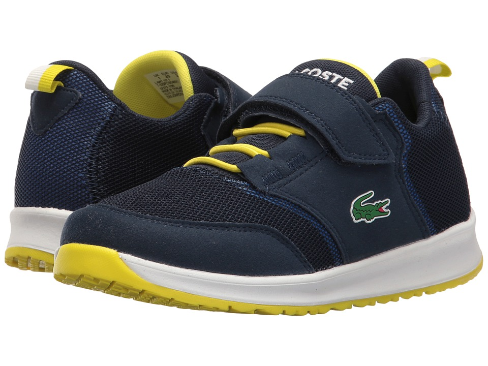 Lacoste Kids - L.ight 117 1 SP17 (Little Kid) (Navy/Blue) Kids Shoes