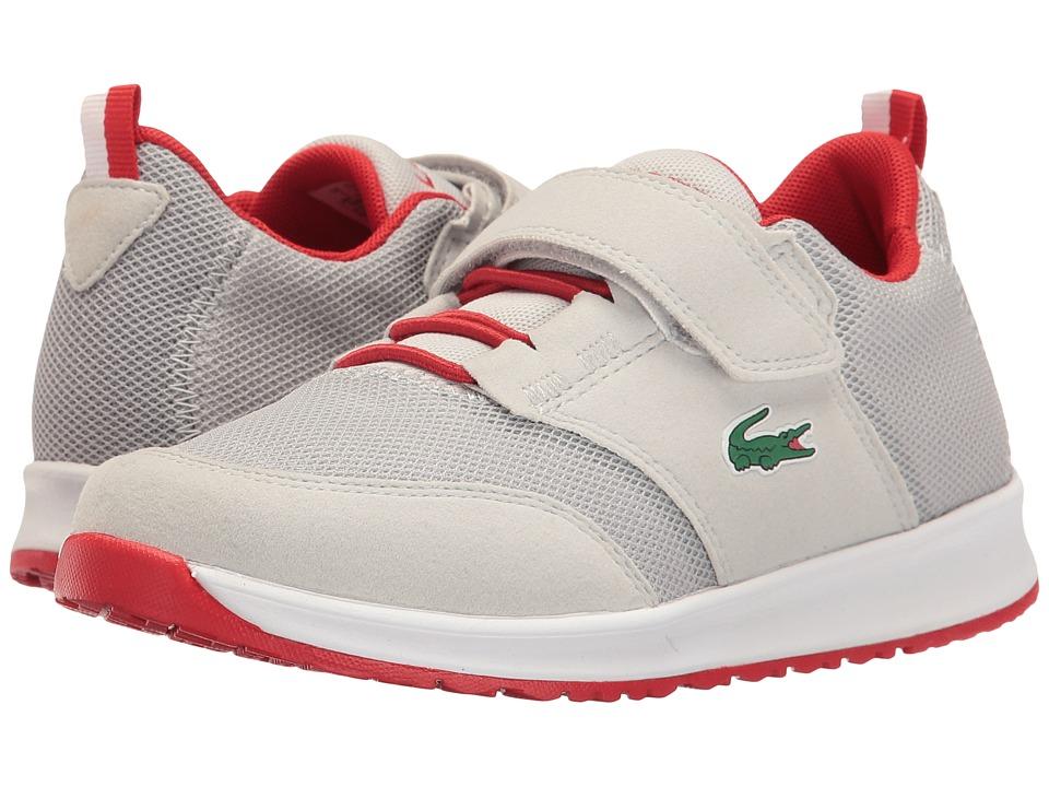 Lacoste Kids - L.ight 117 1 SP17 (Little Kid) (Light Grey/Red) Kids Shoes