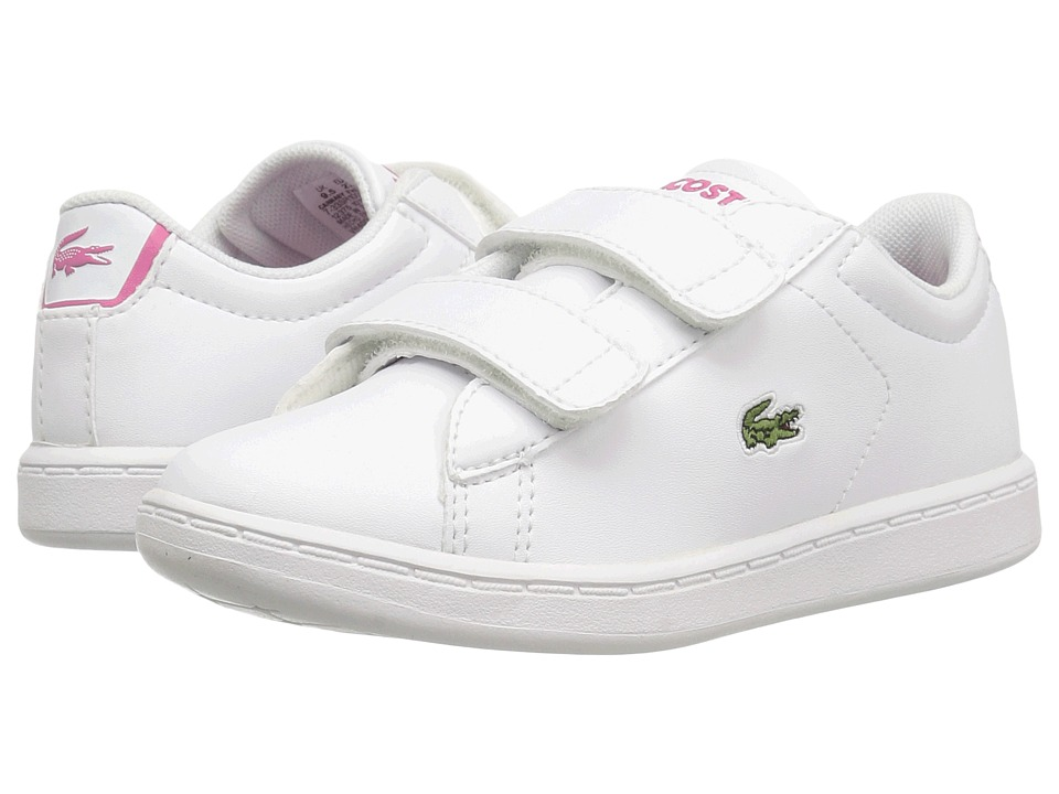 Lacoste Kids Carnaby Evo BL 1 SP17 (Toddler/Little Kid) (White/Pink) Girls Shoes