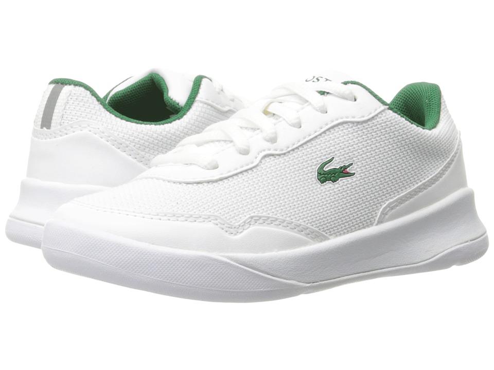 Lacoste Kids - LT Spirit 117 1 SP17 (Little Kid) (White/Green) Kids Shoes
