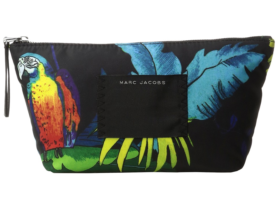 Marc Jacobs BYOT Parrot Trapezoid Cosmetics Case (Black Multi) Cosmetic Case