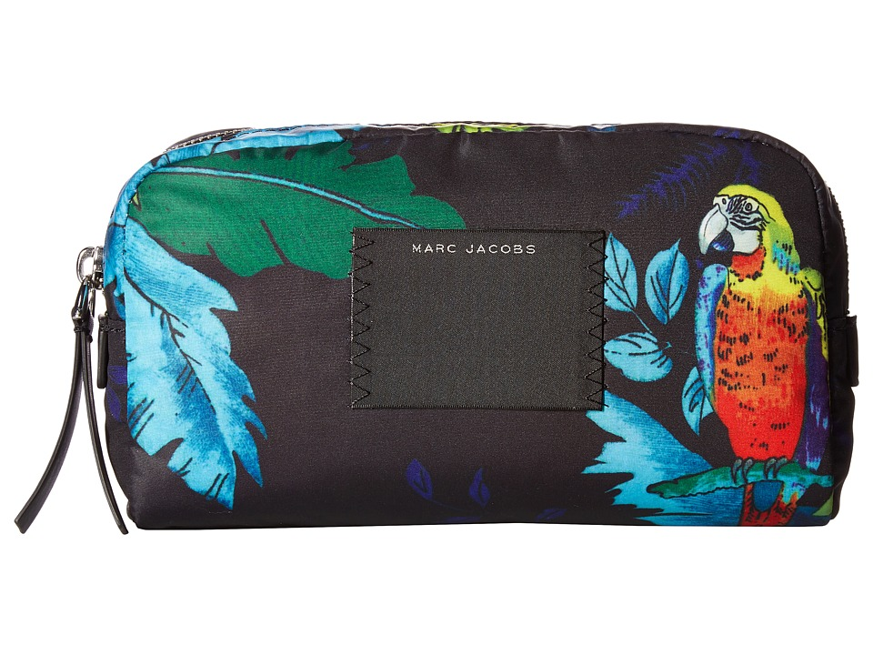 Marc Jacobs BYOT Parrot Large Cosmetics Case (Black Multi) Cosmetic Case