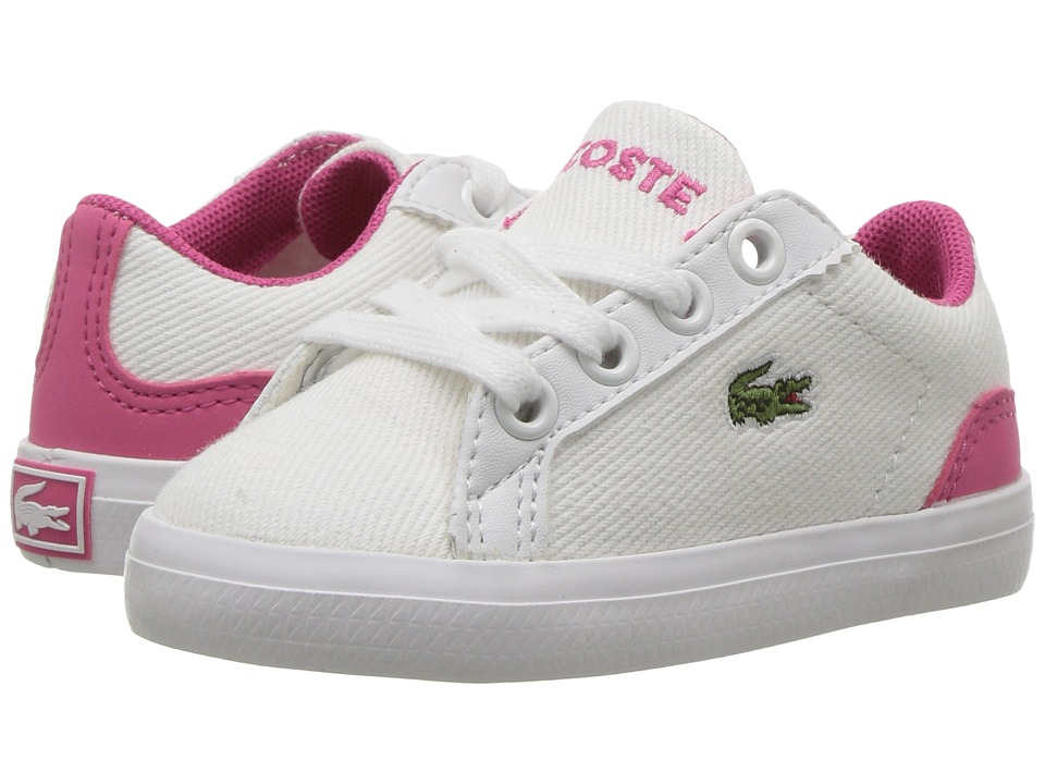 Lacoste Kids - Lerond 117 1 SP17 (Toddler/Little Kid) (White/Pink) Girls Shoes