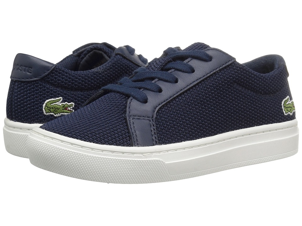 Lacoste Kids - L.12.12 (Little Kid) (Navy) Kids Shoes