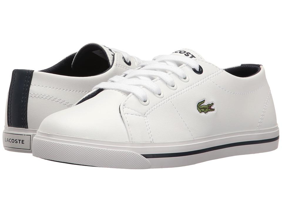 Lacoste Kids - Marcel 117 1 SP17 (Little Kid) (White/Navy) Kids Shoes