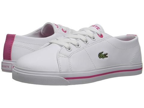 Lacoste Kids Riberac 117 1 SP17 (Little Kid) - White/Pink