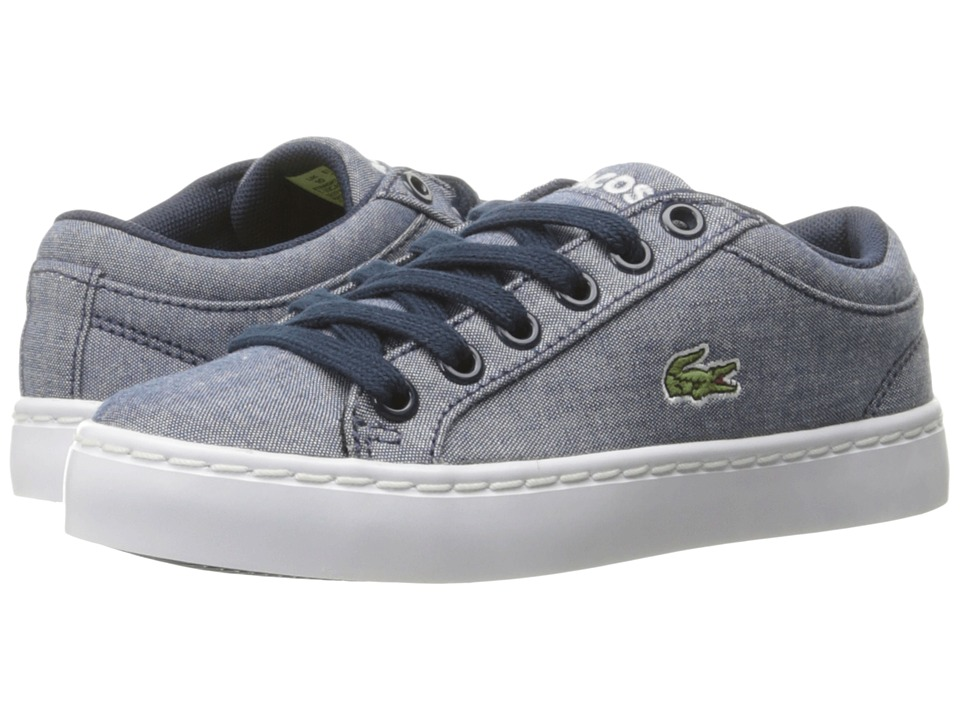 Lacoste Kids - Straightset Lace 117 3 SP17 (Little Kid) (Navy) Kids Shoes
