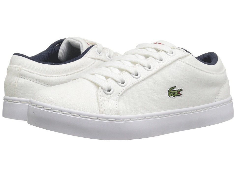 Lacoste Kids - Straightset Lace 117 3 SP17 (Little Kid) (White) Kids Shoes