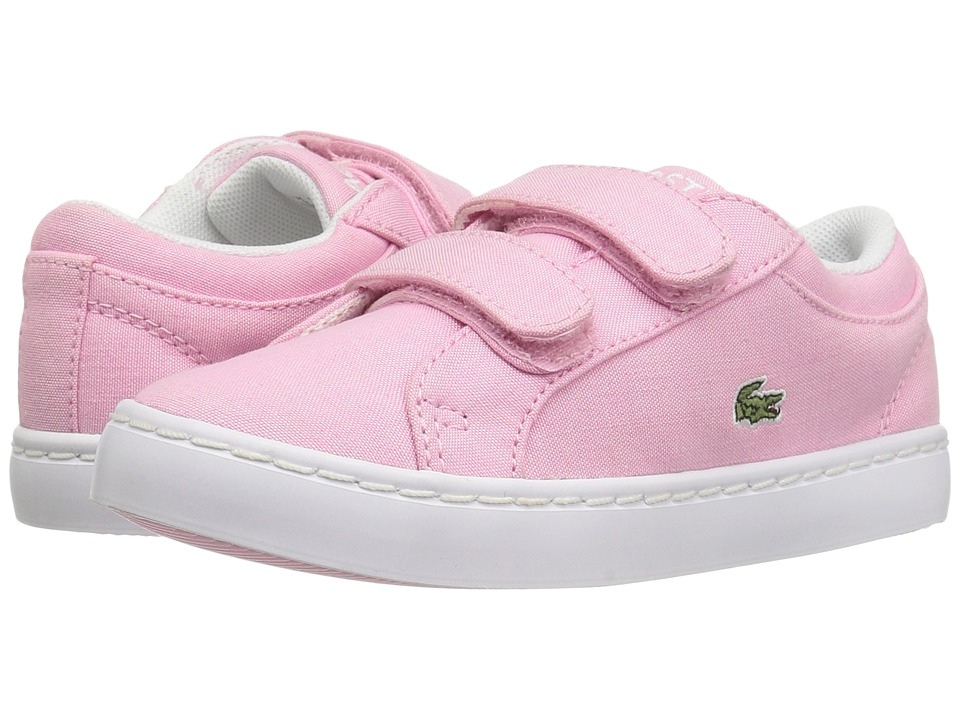Lacoste Kids - Straightset Lace 117 3 SP17 (Toddler/Little Kid) (Light Pink) Girls Shoes
