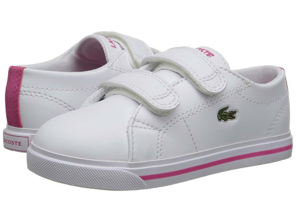 Lacoste Kids - Marcel 117 1 SP17 (Toddler/Little Kid) (White/Pink) Girls Shoes