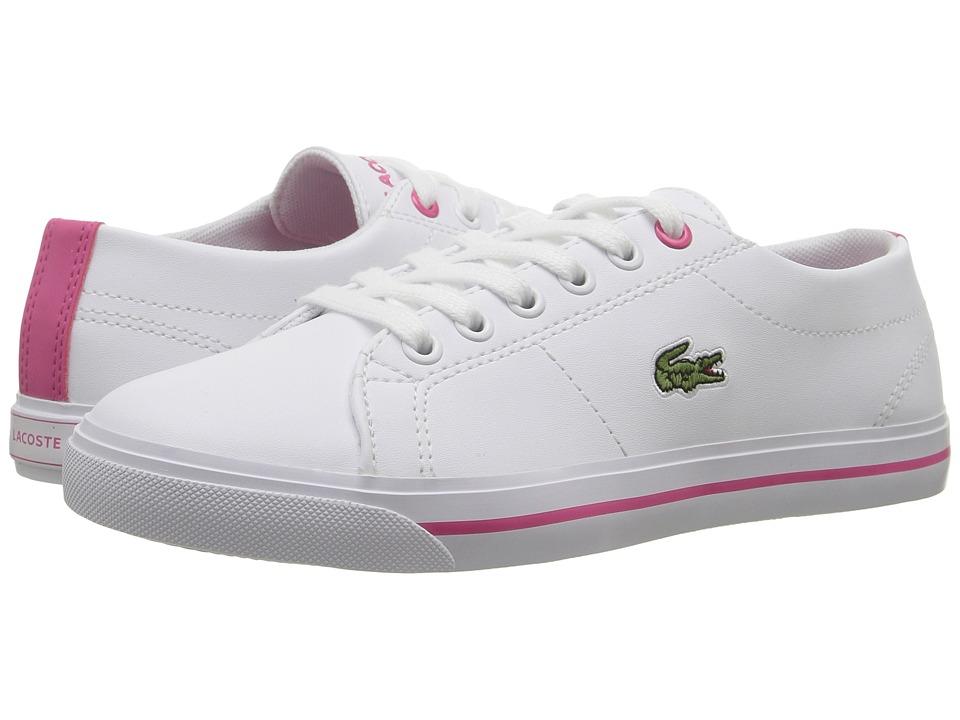 Lacoste Kids - Marcel 117 1 SP17 (Little Kid/Big Kid) (White/Pink) Girls Shoes