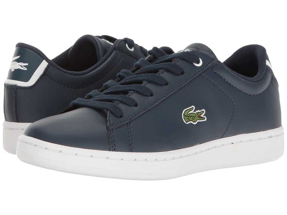Lacoste Kids - Carnaby Evo (Little Kid/Big Kid) (Navy/Navy) Kids Shoes