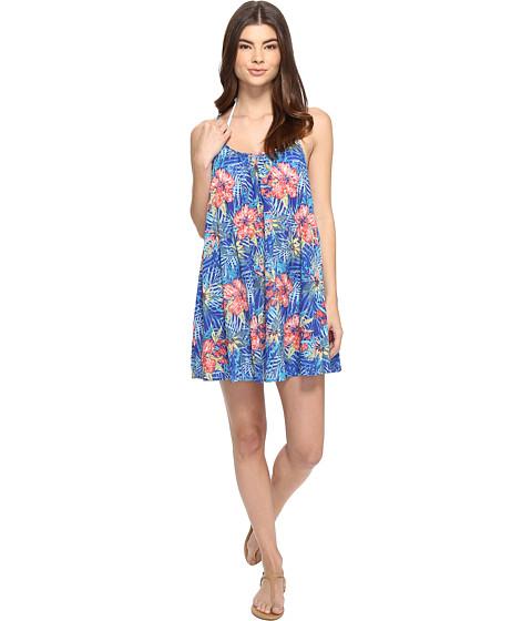 Roxy - Windy Fly Away Print Dress Cover-Up (Royal Blue Beyond Love) Women's Swimwear