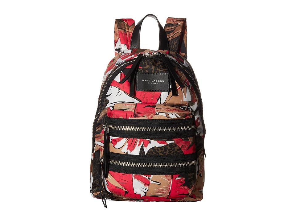 Marc Jacobs Palm Printed Mini Biker Backpack (Pink Multi)...