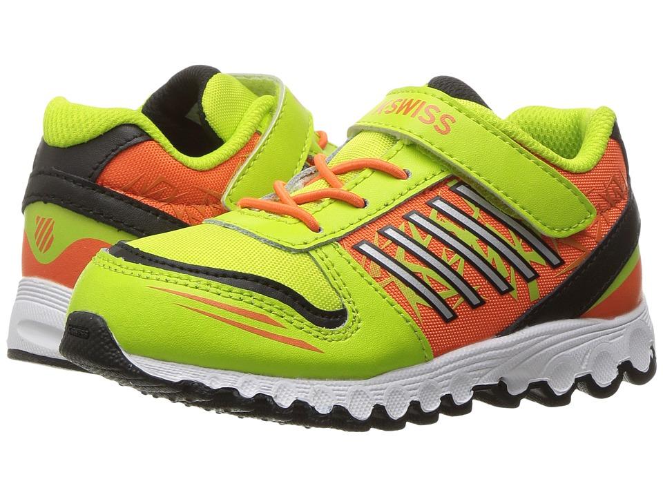 K-Swiss Kids - X-160 VLC (Infant/Toddler) (Lime Punch/Safety Orange/Black) Kids Shoes