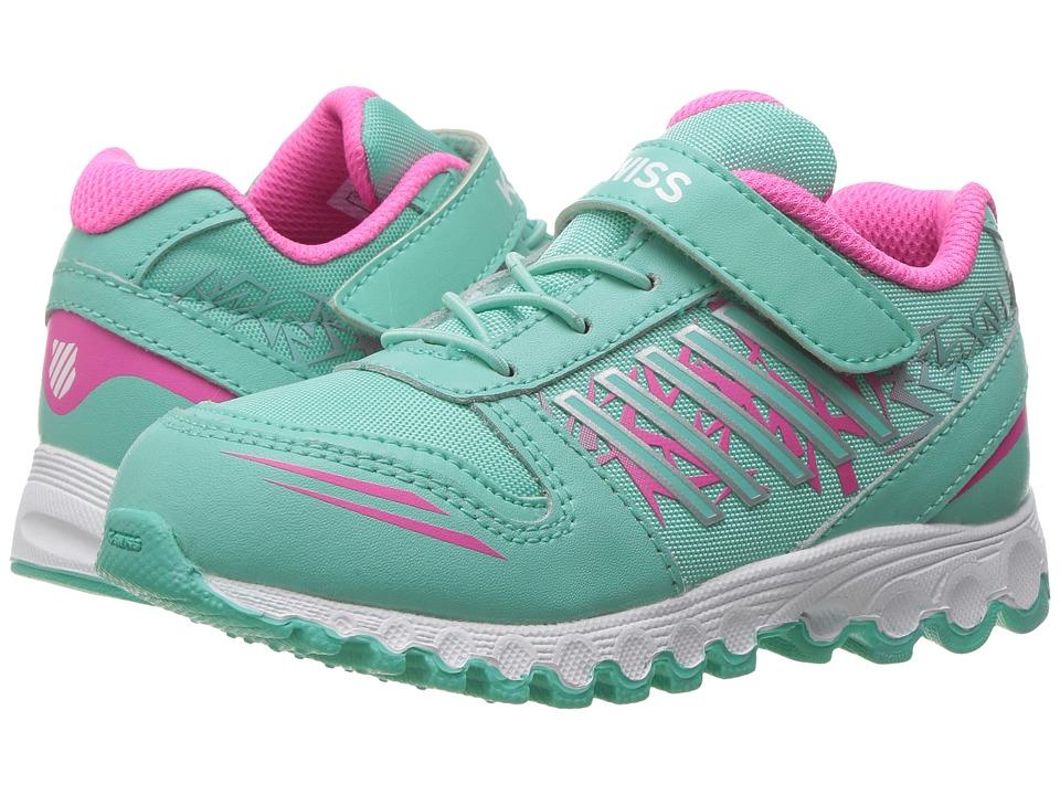 K-Swiss Kids - X-160 VLC (Infant/Toddler) (Cockatoo/Neon Pink) Kids Shoes