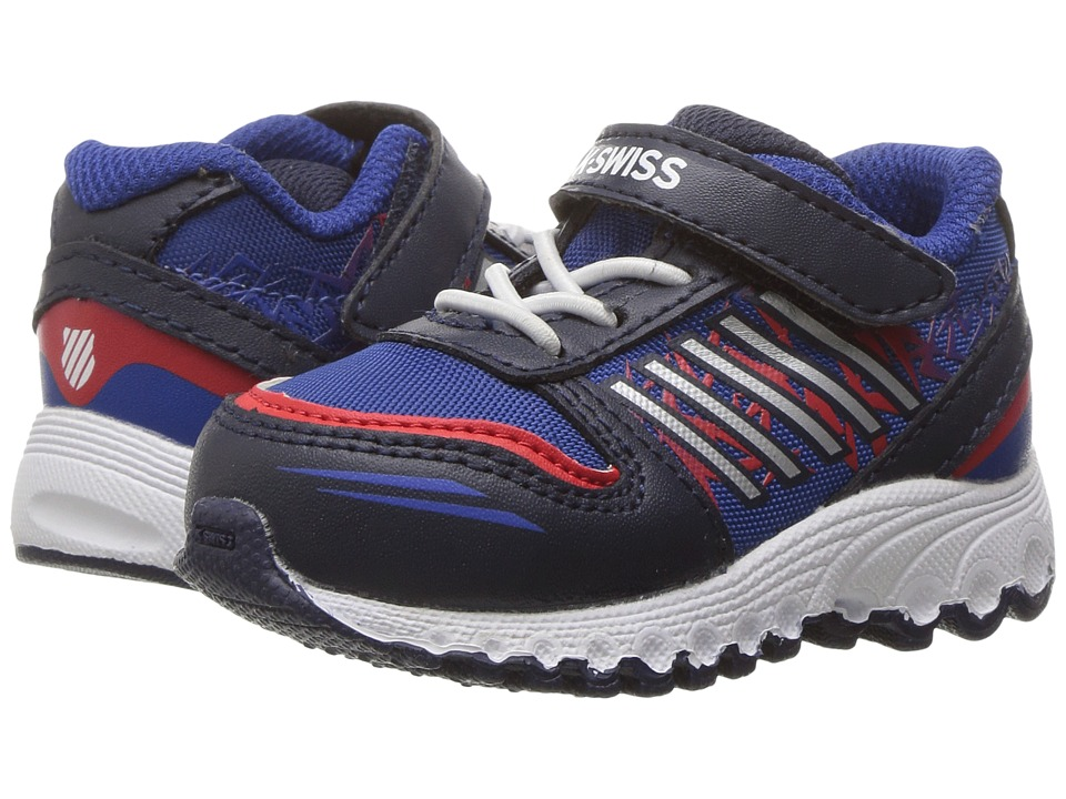 K-Swiss Kids - X-160 VLC (Infant/Toddler) (Navy/Classic Blue/Fiery Red) Kids Shoes