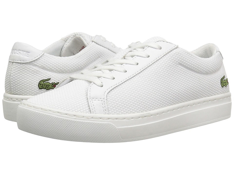 Lacoste Kids L.12.12 BL 2 SP17 (Little Kid/Big Kid) (White) Kids Shoes