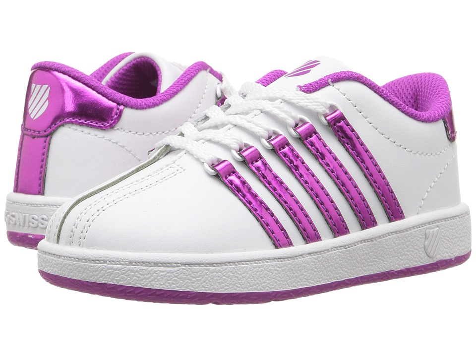 K-Swiss Kids - Classic VN (Infant/Toddler) (White/Pink) Girls Shoes