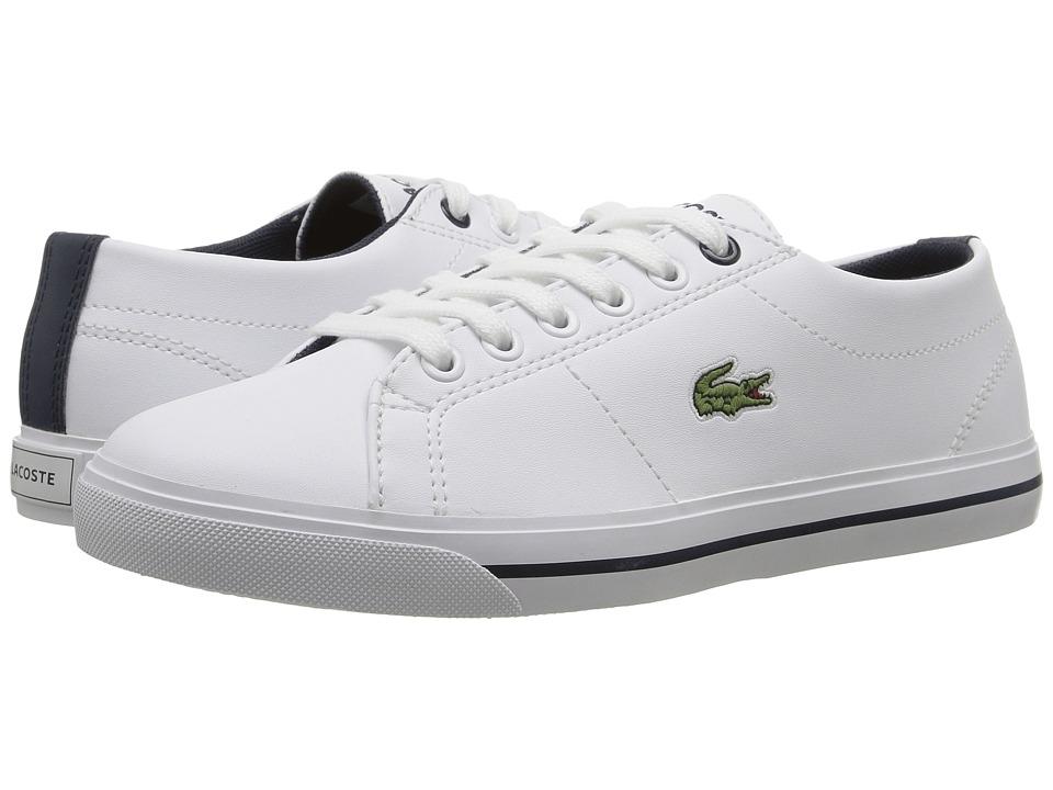 Lacoste Kids - Marcel 117 1 SP17 (Little Kid/Big Kid) (White/Navy) Kids Shoes