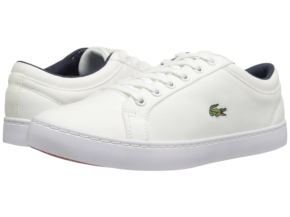 Lacoste Kids - Straightset Lace 117 3 SP17 (Little Kid/Big Kid) (White) Kids Shoes