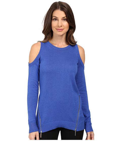 MICHAEL Michael Kors Cold Shoulder Zip Sweater