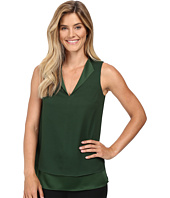 MICHAEL Michael Kors - Draped Open Neckline Tank Top