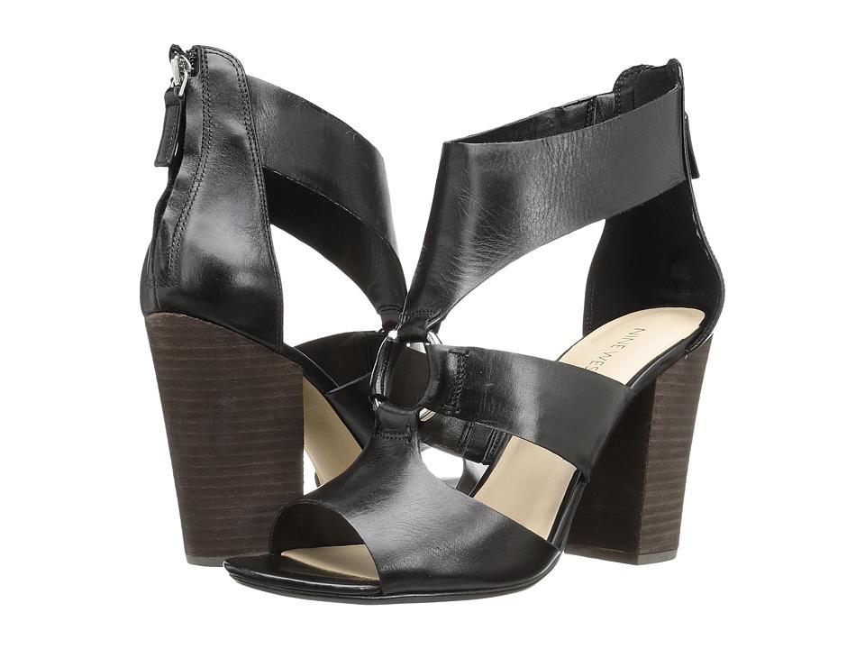 Nine West Roamah (Black Leather) High Heels