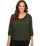 MICHAEL Michael Kors - Plus Size Diamond Snake Peasant Top