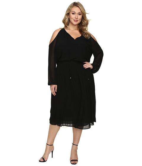 MICHAEL Michael Kors Plus Size Cold Shoulder Boot Dress - Black